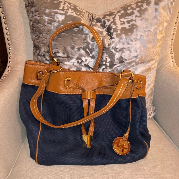 0e700cca8486 MICHAEL Michael Kors Bags | Michael Kors Marina Large Drawstring ...